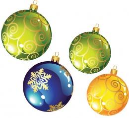 Купить Двухсторонние фигурные элементы Новогодние шарики ,размер 103х120 и 84х98 мм 27 шт в Беларуси от 48.00 BYN