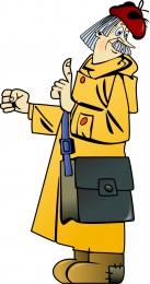 Купить Фигурный двухсторонний элемент для оформления детской площадки и группы Почтальон Печкин 570*1080 мм в Беларуси от 101.00 BYN