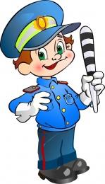 Купить Фигурный двухсторонний элемент для оформления детской площадки Полицейский 460*800 мм в Беларуси от 60.00 BYN