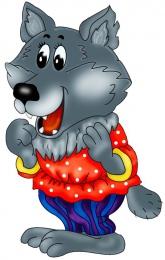 Купить Фигурный двухсторонний элемент Волк 2 из сказки  для оформления детской площадки и группы 700х450 в Беларуси от 50.00 BYN
