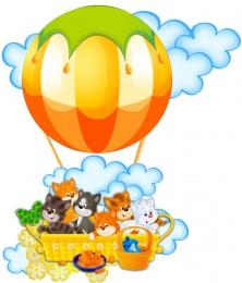 Купить Фигурный элемент для оформления детской площадки и группы  Котята 300*350 мм в Беларуси от 12.00 BYN