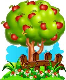 Купить Фигурный элемент для оформления детской площадки и группы Яблоня 580*700мм в Беларуси от 49.00 BYN