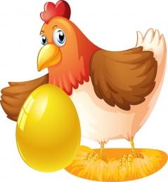 Купить Фигурный элемент односторонний Курочка Ряба с яйцом 230*250 мм в Беларуси от 7.00 BYN