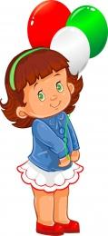 Купить Фигурный односторнний элемент Девочка с шариками 230*500 мм в Беларуси от 14.00 BYN