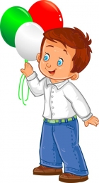 Купить Фигурный односторнний элемент Мальчик с шариками 270*500 мм в Беларуси от 15.00 BYN