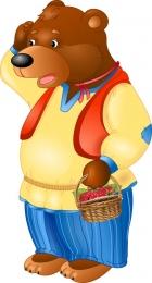 Купить Фигурный односторонний элемент для оформления детской площадки и группы - Медведь 540*1000 мм в Беларуси от 62.00 BYN