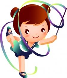 Купить Фигурный односторонний элемент Виды спорта - Художественная гимнастика 430*500мм в Беларуси от 25.00 BYN