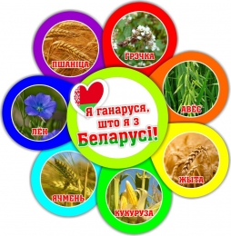 Купить Фигурный стенд Я ганаруся, што я з Беларусi! растения 490*510мм в Беларуси от 28.00 BYN