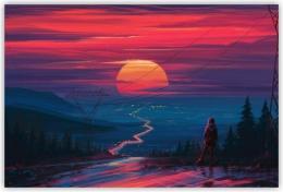 Купить Картина на холсте Закат в Беларуси от 12.00 BYN
