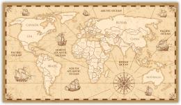 Купить Картина на холсте Карта мира в Беларуси от 14.00 BYN