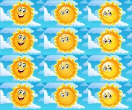 Купить Карточки для стенда Наше настроение в виде солнышка 24 шт 80*50 мм в Беларуси от 4.00 BYN