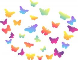 Купить Комплект декоративных элементов Бабочки на тонком пластике в Беларуси от 11.00 BYN