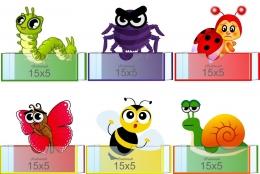 Купить Комплект фигурных мини-стендов Эмоции с насекомыми 150*160мм в Беларуси от 23.20 BYN