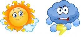 Купить Комплект фигурных элементов Солнышко и Тучка для оформления детской площадки и группы 830*390 мм в Беларуси от 34.00 BYN