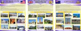 Купить Комплект из 3-х стендов Австралия,США, Великобритания для кабинета английского языка в фиолетовых тонах 700*850мм в Беларуси от 195.00 BYN
