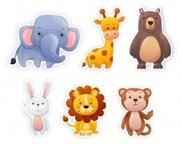 Купить Комплект наклеек для интерьера детской комнаты в Беларуси от 46.00 BYN