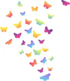 Купить Комплект наклеек Бабочки для интерьера 344х260 мм в Беларуси от 4.00 BYN