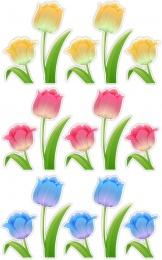 Купить Комплект наклеек Тюльпаны 15 шт 230*110 мм, 130*97 мм в Беларуси от 12.00 BYN