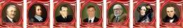 Купить Комплект портретов для кабинета информатики в бордовых тонах 260*330 мм в Беларуси от 65.00 BYN