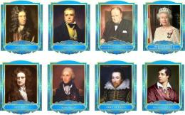 Купить Комплект портретов портретов Знаменитые Британцы в голубых тонах 260*350 мм в Беларуси от 88.00 BYN