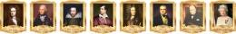 Купить Комплект портретов портретов Знаменитые Британцы в золотистых тонах 260*350 мм в Беларуси от 88.00 BYN