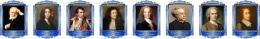 Купить Комплект портретов Знаменитые французкие деятели в золотисто-синих тонах 260*350 мм в Беларуси от 83.00 BYN