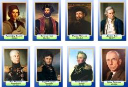 Купить Комплект портретов Знаменитые географы в голубых тонах 200*290 мм в Беларуси от 53.00 BYN