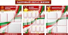 Купить Комплект стендов по физкультуре Здоровый образ жизни 2200*1200мм в Беларуси от 312.00 BYN