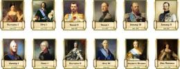 Купить Комплект стендов портретов Русских царей для кабинета истории 12 шт. 330*400 мм в Беларуси от 174.00 BYN