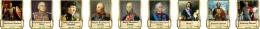 Купить Комплект стендов портретов Великие Русские Полководцы в золотистых тонах  330*400 мм в Беларуси от 144.00 BYN