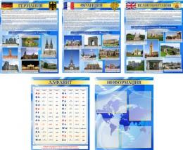 Купить Комплект стендов в кабинет иностранного языка Английский, Немецкий, Французский,США 600*750 мм в Беларуси от 321.00 BYN
