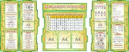Купить Композиция Матэматыка вакол нас в зеленых тонах на белорусском языке 1800*995мм в Беларуси от 210.30 BYN