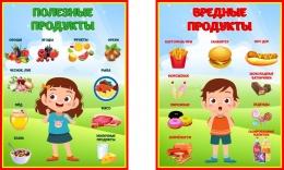 Купить Композиция стендов Полезные и вредные продукты 225*300мм в Беларуси от 15.00 BYN
