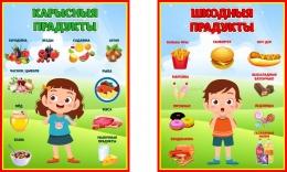 Купить Композиция стендов Полезные и вредные продукты на белорусском 220*300 мм в Беларуси от 16.00 BYN