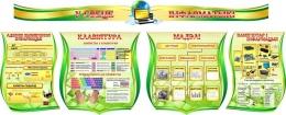 Купить Композиция в кабинет Информатики на белорусском языке в золотисто-зеленых тонах 2820*1140мм в Беларуси от 340.00 BYN