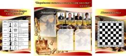Купить Композиция в секцию по шахматам в золотисто-красных тонах 1630*770 мм в Беларуси от 129.50 BYN