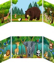 Купить Маркер игрового пространства Животные 870*300 мм в Беларуси от 43.32 BYN