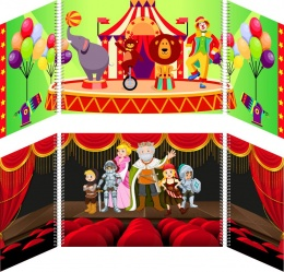 Купить Маркер игрового пространства Цирк Театр 870*300 мм в Беларуси от 44.32 BYN