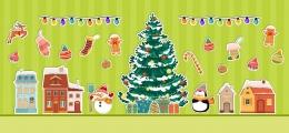 Купить Набор интерьерных наклеек Новый год в Беларуси от 54.00 BYN