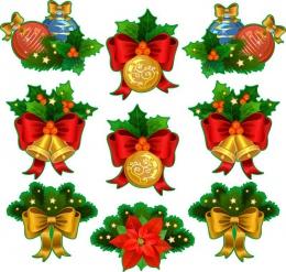 Купить Набор наклеек Новогодние украшения в Беларуси от 10.00 BYN