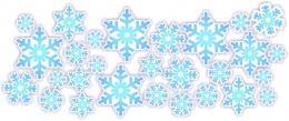 Купить Набор наклеек Снежинки на белом фоне в Беларуси от 6.00 BYN