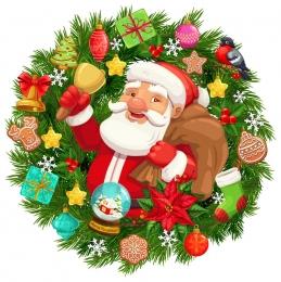 Купить Наклейка новогодняя Дед Мороз 560*560 мм в Беларуси от 14.00 BYN