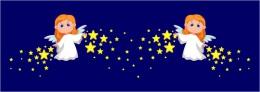 Купить Наклейки Ангелочки со звёздами  610*660 мм  2шт. в Беларуси от 46.00 BYN