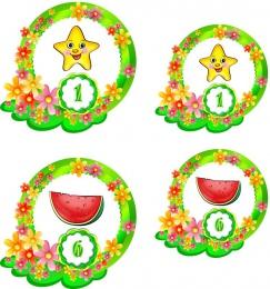 Купить Наклейки для группы Цветочный городок 60шт.,размер 89х112 и 74х71 мм в Беларуси от 25.10 BYN