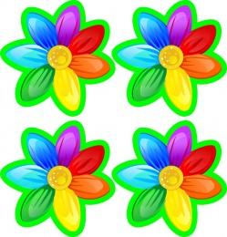 Купить Наклейки для группы Семицветик 60*60 мм 24шт. в Беларуси от 6.00 BYN