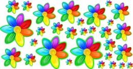 Купить Наклейки для группы Семицветик без нумерации от 40*200 мм 30 шт. в Беларуси от 15.00 BYN