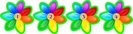 Купить Наклейки для группы Семицветик с нумерацией 40*40мм 24шт. в Беларуси от 4.00 BYN