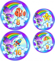 Купить Наклейки Колокольчики  80шт.  размер 74*74 мм  53*53мм в Беларуси от 16.00 BYN