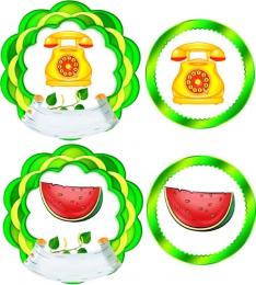 Купить Наклейки на шкафчики Березка  58шт.,размер 90*90 и 70*70 мм в Беларуси от 16.00 BYN