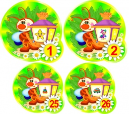 Купить Наклейки на шкафчики группа Светлячки 52 шт.,размер 90х90 и 75х75 мм в Беларуси от 17.00 BYN
